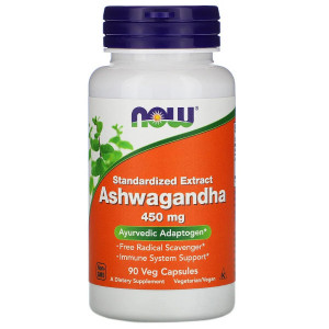 Ашваганда экстракт 450 мг Нау Фудс (Ashwagandha extract Now Foods), 90 капсул