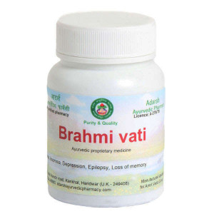 Brahmi vati Adarsh Ayurvedic Pharmacy, 20 grams ~ 65 tablets