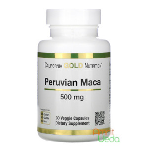 Перуанская Мака 500 мг Кэлифорниа Голд Нутришн (Peruvian Maca 500 mg California Gold Nutrition), 90 капсул