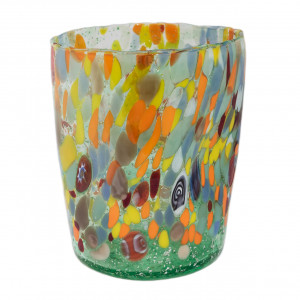 Glass multicolored Murano, 350 ml